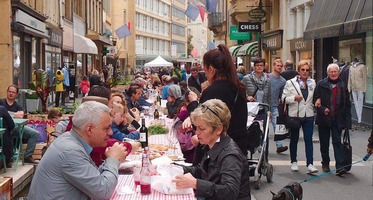 Quarante ans de la zone piétonne à Neuchâtel: l'heure du bilan