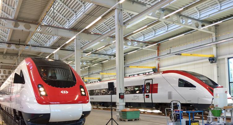 Un centre d'entretien pour les trains flambant neufs à Bienne