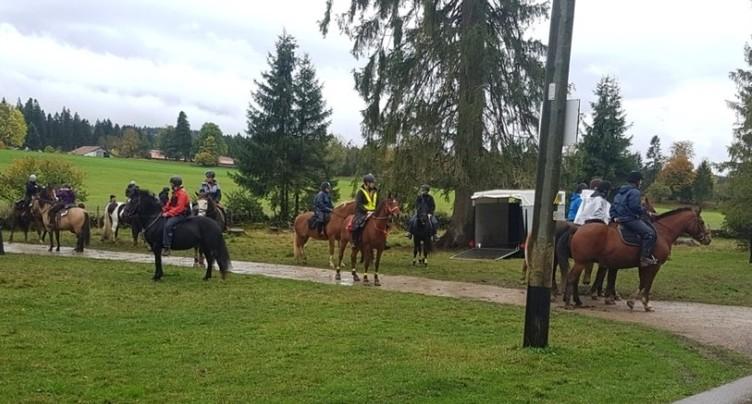 Plus de 400 cavaliers ont bravé la pluie