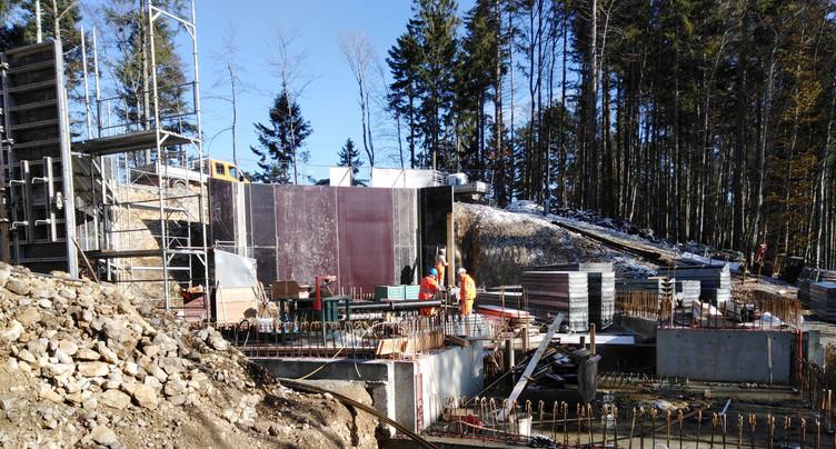 Tramelan : les travaux du réservoir des Fraises vont bon train
