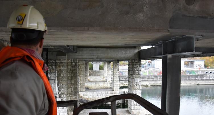 Des travaux urgents sous le pont du barrage à Port