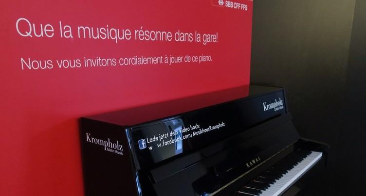 Un piano en gare de Delémont