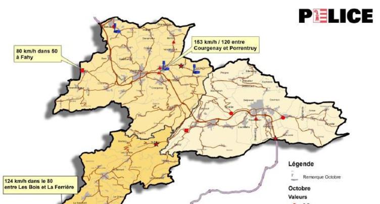 Flashé à 124 km/h au lieu de 80 aux Franches-Montagnes