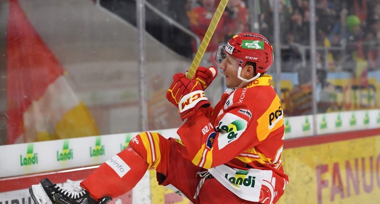 Le récital de Damien Brunner fait gagner le HC Bienne