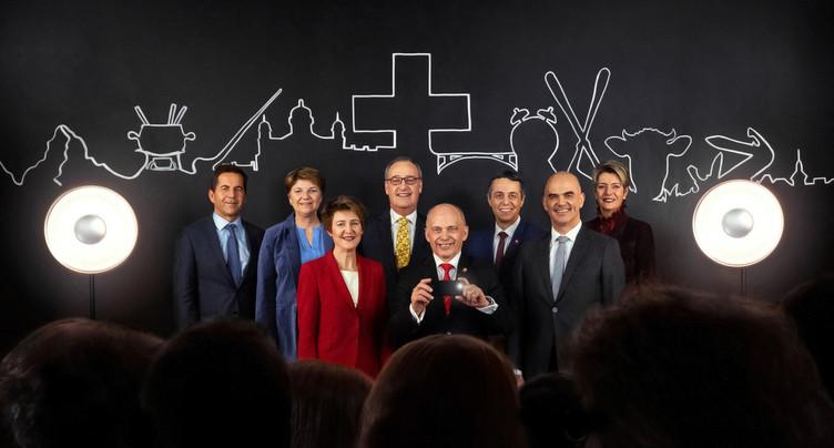 Tous les conseillers fédéraux réélus