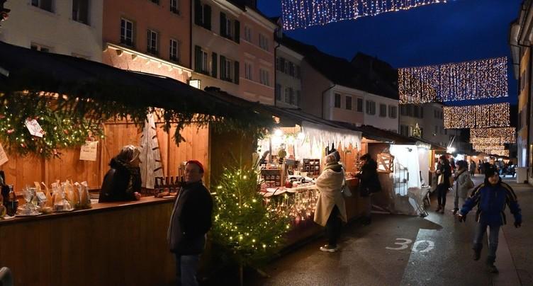 Beau succès pour le marché de Noël de Delémont