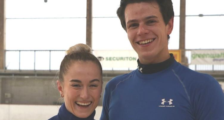 Nicolas et Alexandra en piste