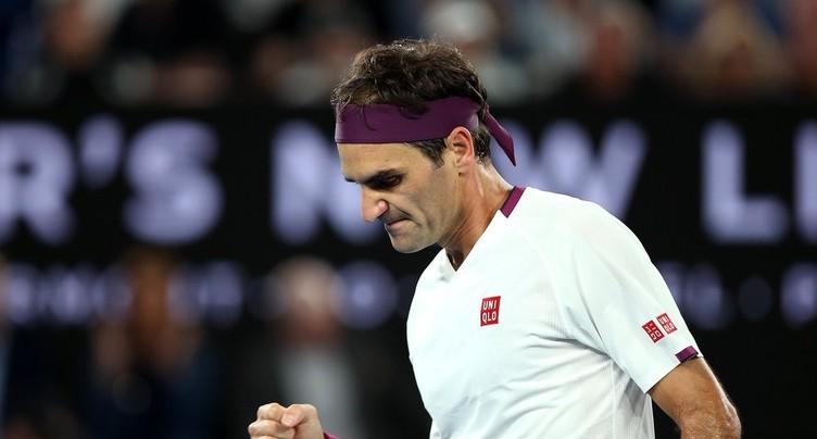 Roger Federer file en quart de finale