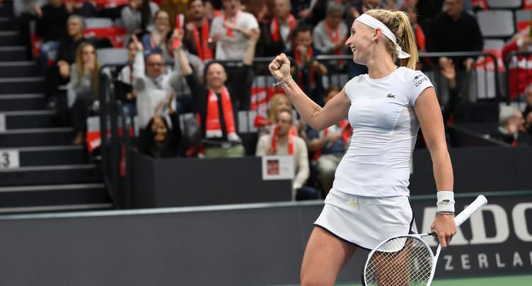 La Suisse se qualifie pour la phase finale de la Fed Cup
