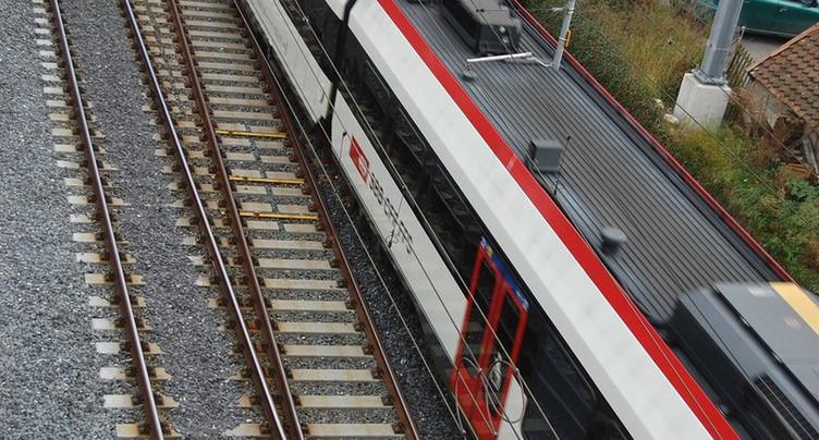 Plus de train sur la ligne Delémont-Delle