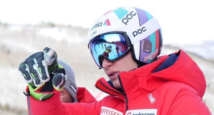 Marco Odermatt sur le podium