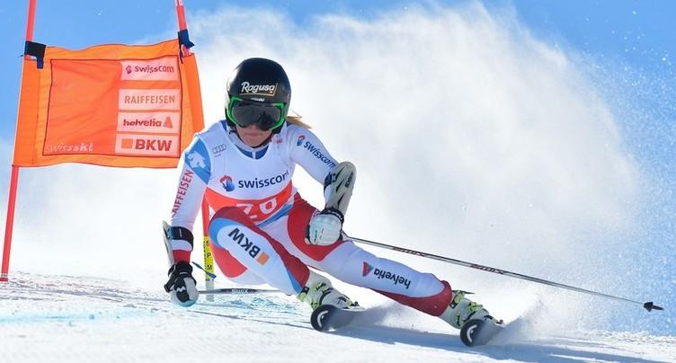 Nouveau doublé des skieuses suisses à Crans Montana