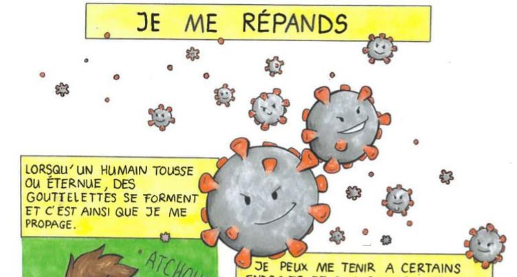 Une BD pour expliquer le coronavirus aux enfants