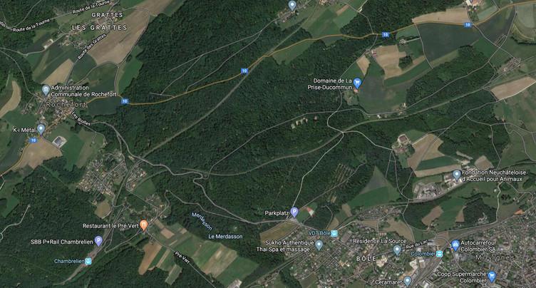 Route rouverte entre Bôle et Rochefort