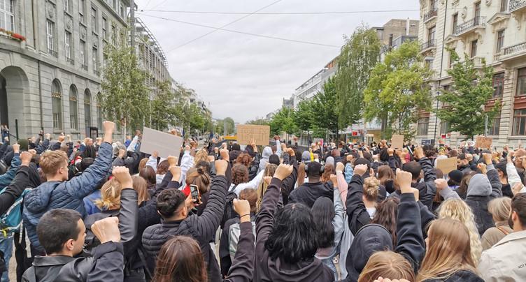 Manifestation contre le racisme à Bienne