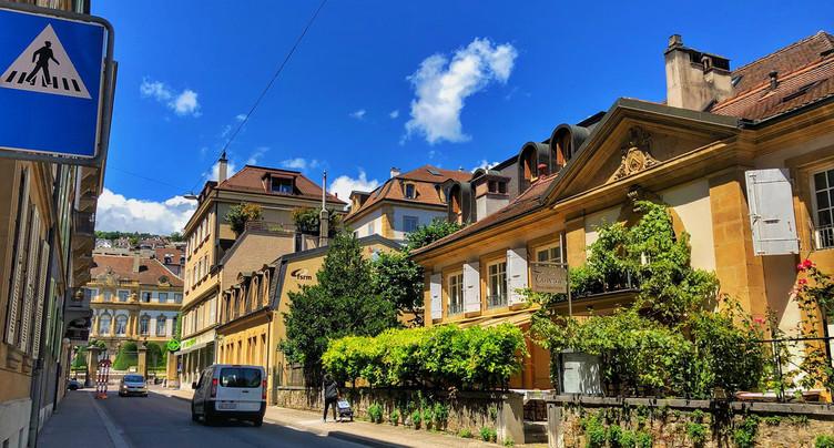 La rue de l'Orangerie devient piétonne pendant l'été