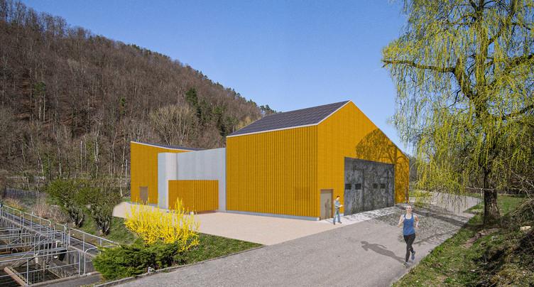 L'usine de traitement des micropolluants sort de terre à Soyhières