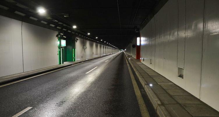 Tunnels en partie fermés de nuit sous Neuchâtel