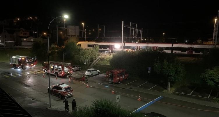 L'essieu d'un wagon prend feu à Moutier