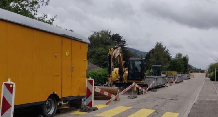 St-Imier : reprise des travaux à la Rue de la Fourchaux
