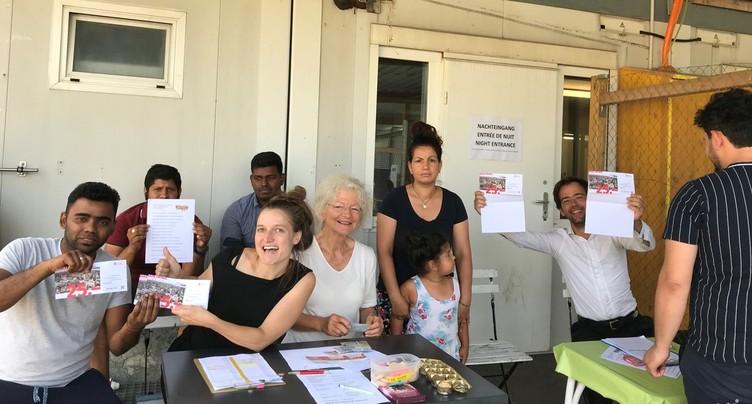 Solidarité au centre d'asile de Boujean