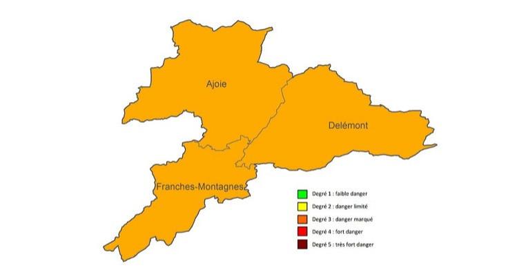 Danger d'incendie marqué dans le Jura