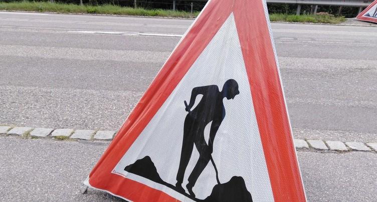 Début des travaux à la route du Vorbourg