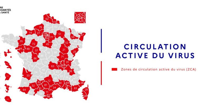 Les départements frontaliers passent en zone rouge
