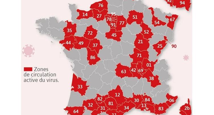 Covid en France : pas de grands changements pour les Jurassiens