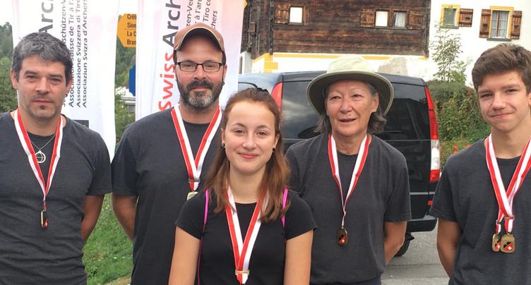 Quatre médailles pour le club Arc et Forêt de Tavannes