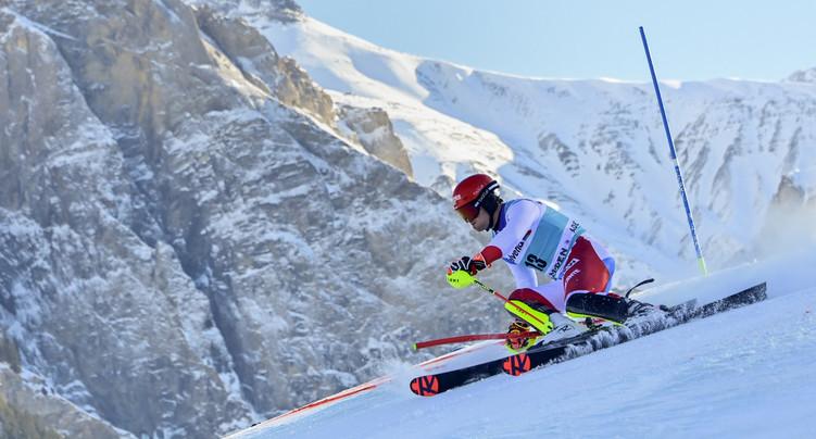 Slalom d'Adelboden: Schwarz s'impose, les Suisses placés