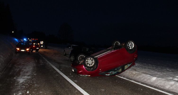 Deux accidents en chaîne entre Les Bois et Le Boéchet