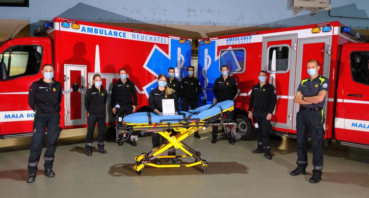Les ambulanciers neuchâtelois récompensés pour la qualité de leurs prestations