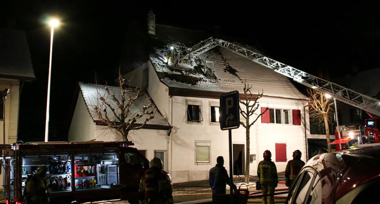Un incendie s'est déclaré dans une maison familiale de Cornol