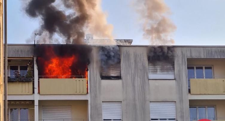 Incendie dans un immeuble à Cressier