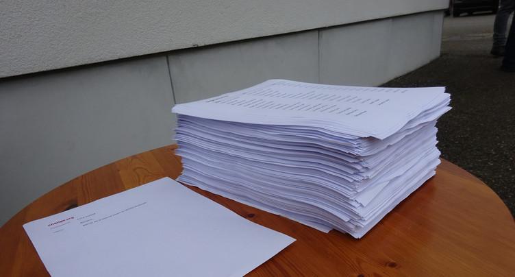 Près de 24'000 signatures récoltées