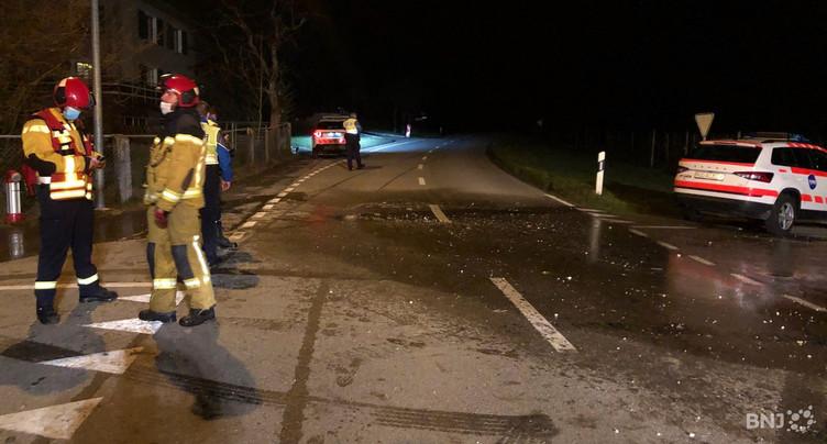 Cinq blessées sur la route entre Montsevelier et Courchapoix