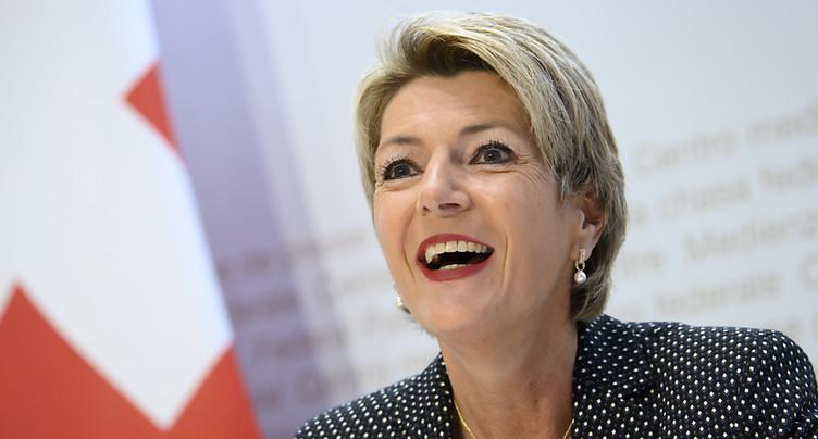 Karin Keller-Sutter satisfaite de la tenue du vote de Moutier
