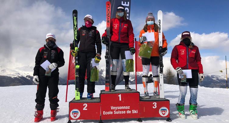 Giron jurassien: double podium de Justine Herzog à Veysonnaz