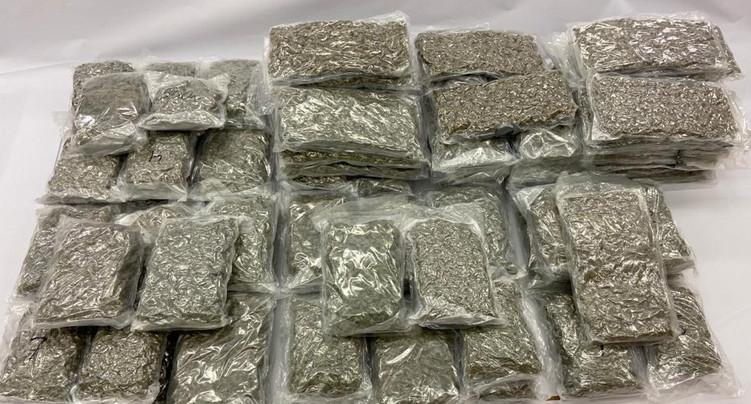 Près de 110 kilogrammes de marijuana saisis