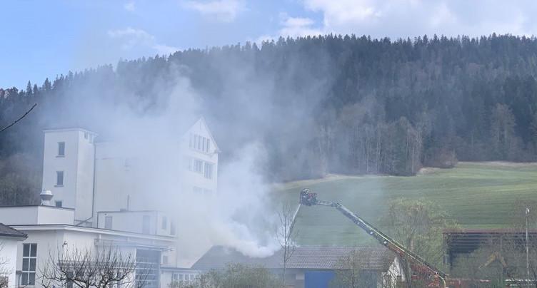 Incendie d'un entrepôt à St-Sulpice