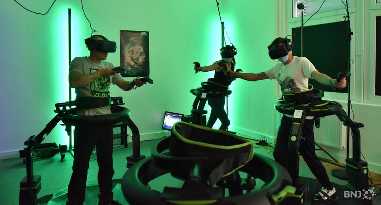 La réalité virtuelle fait transpirer à Delémont