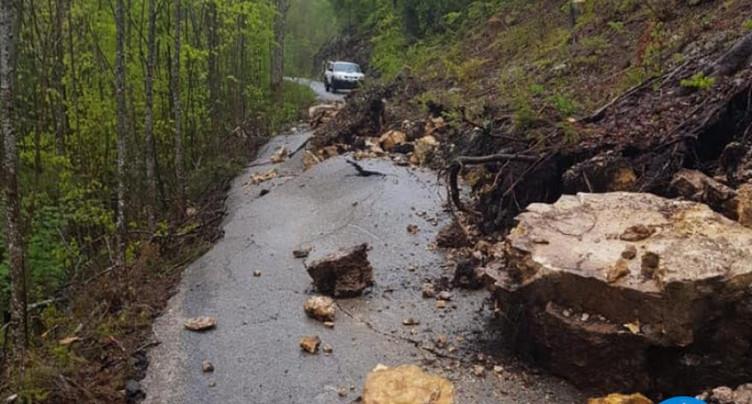 Route fermée entre Gänsbrunnen et Court