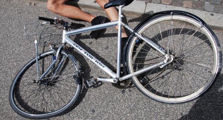 Cycliste grièvement blessé à Aarberg