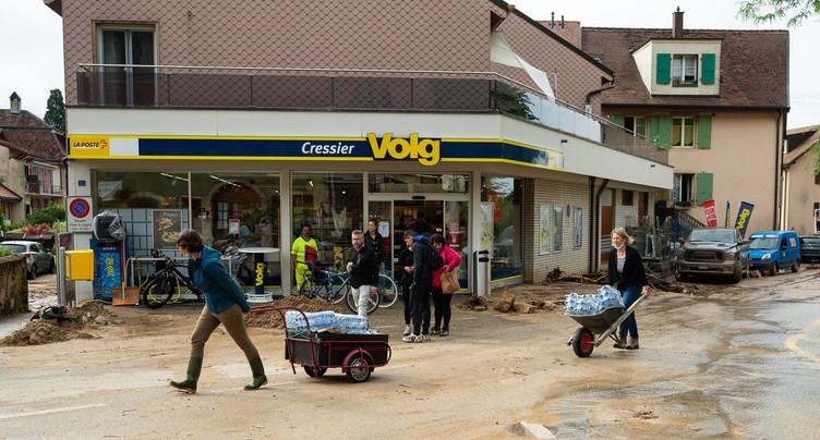 Le soutien aux sinistrés s'organise à Cressier