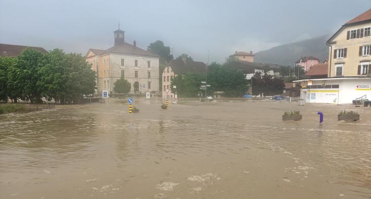 Un déluge inonde le Jura bernois