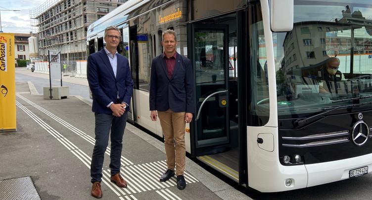 Un bus électrique en test dans les environs de Delémont