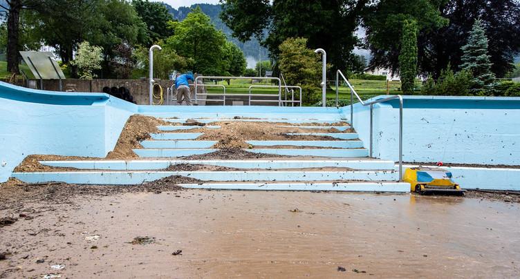 Nettoyage intensif pour la piscine de Moutier