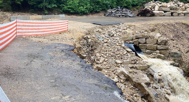 Très gros travaux pour la route Frochaux-Lignières