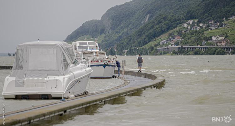 Le niveau du lac de Bienne sous contrôle
